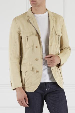 Пиджак с накладными карманами Montedoro. Цвет: бежевый
