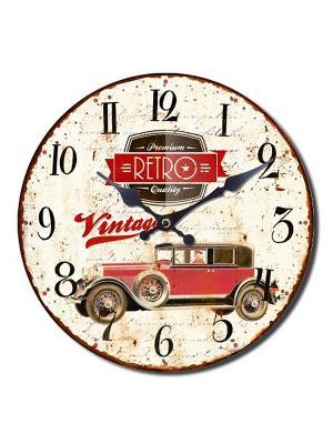 Часы настенные Mitya Veselkov. Цвет: красный, белый, черный