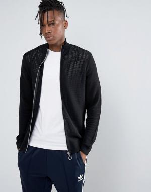 ASOS Спортивная сетчатая куртка. Цвет: черный