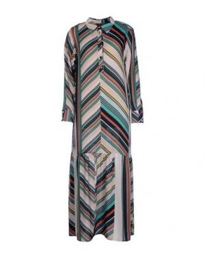 Длинное платье MARIAGRAZIA PANIZZI. Цвет: зеленый