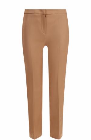 Укороченные расклешенные брюки No. 21. Цвет: бежевый