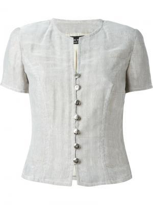 Пиджак с короткими рукавами Jean Louis Scherrer Vintage. Цвет: серый
