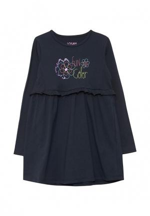 Платье Losan. Цвет: синий