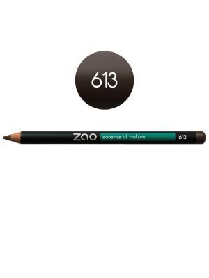 Zao карандаш для глаз, бровей, губ 613 (дымчато-серый) (1,14 г). Цвет: антрацитовый