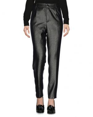 Повседневные брюки MONOCROM. Цвет: серебристый