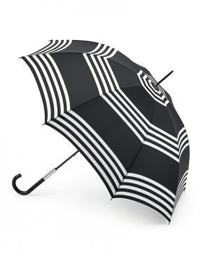 Зонт-трость Полоски  by Fulton Lulu Guinness. Цвет: черный