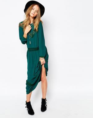 Gat Rimon Зеленое платье макси Jalie. Цвет: зеленый