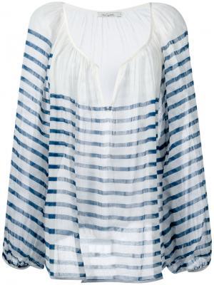 Striped longsleeve blouse Mes Demoiselles. Цвет: белый