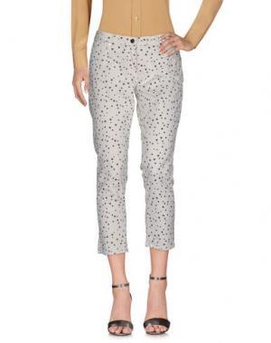 Повседневные брюки OSSO GOCCIA. Цвет: слоновая кость