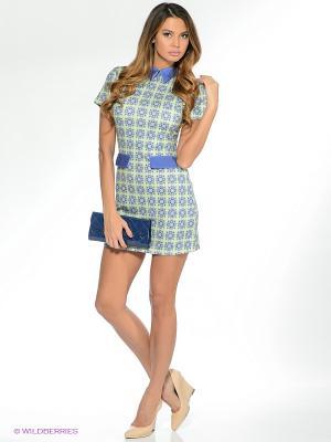 Платье Анна Чапман. Цвет: салатовый, фиолетовый