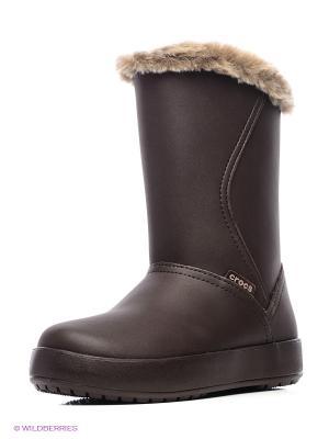 Сапоги ColorLite Mid Boot CROCS. Цвет: коричневый
