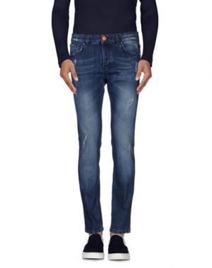 Джинсовые брюки GABARDINE. Цвет: синий