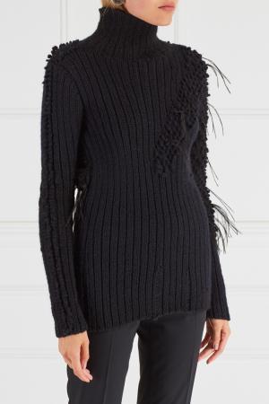 Шерстяной свитер Chapurin. Цвет: черный