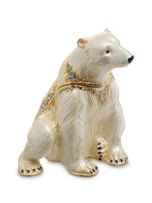 Шкатулка Белый Медведь Art East. Цвет: светло-бежевый
