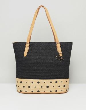 Pia Rossini Большая сумка-тоут с отделкой в спортивном стиле Summer. Цвет: черный
