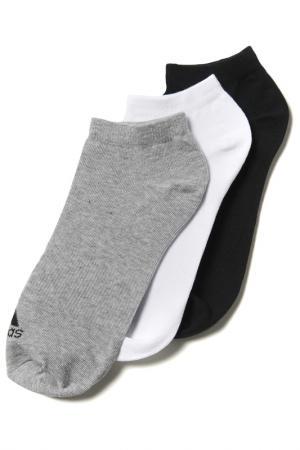 Носки adidas. Цвет: черный, белый, серый