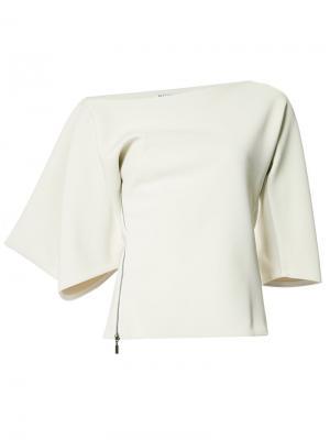 Блузка на одно плечо Maticevski. Цвет: серый