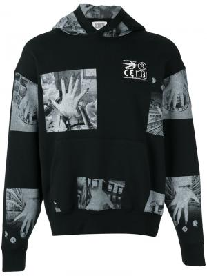 Patch print hooded sweatshirt Cav Empt. Цвет: чёрный