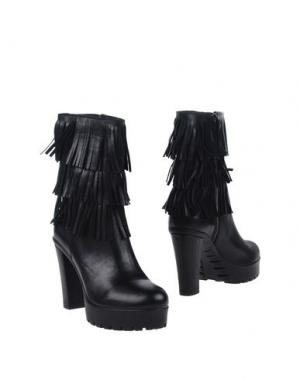 Полусапоги и высокие ботинки MARIA. Цвет: черный