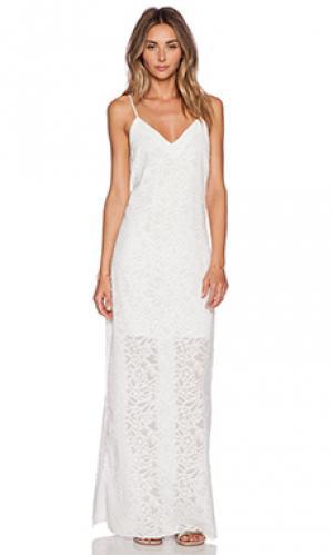 Платье-комбинация эксклюзив roe Nikki Reed for REVOLVE. Цвет: белый