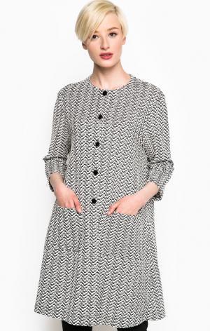 Пальто POIS. Цвет: серый