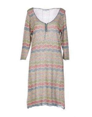 Короткое платье LA FEE MARABOUTEE. Цвет: бежевый