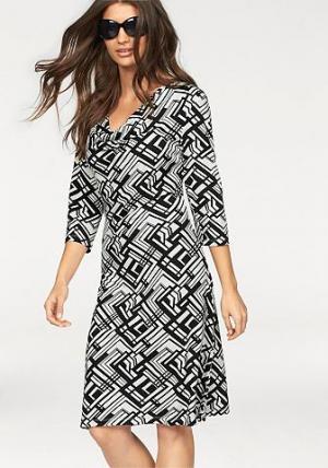 Платье BRUNO BANANI. Цвет: черный/молочно-белый