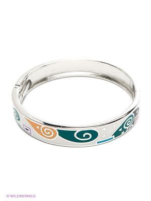 Браслет Lovely Jewelry. Цвет: серебристый, оранжевый, бирюзовый