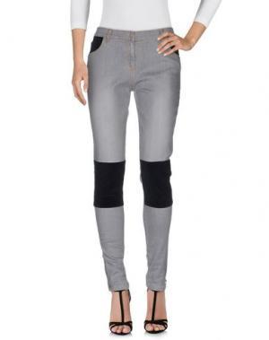 Джинсовые брюки SOEUR. Цвет: серый