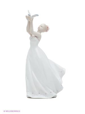 Статуэтка Леди Pavone. Цвет: белый, кремовый