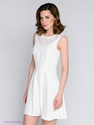 Платье People. Цвет: молочный