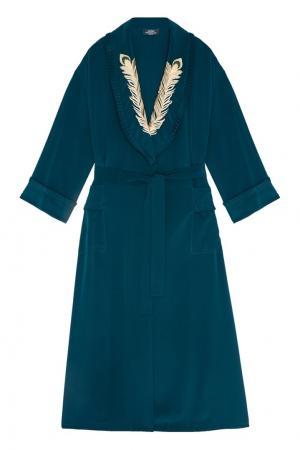 Платье-халат с вышивкой Alena Akhmadullina. Цвет: зеленый