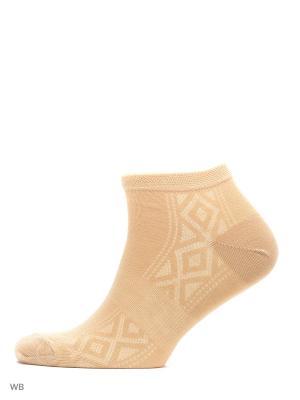 Носки укороченные, 3 пары HOSIERY. Цвет: бежевый