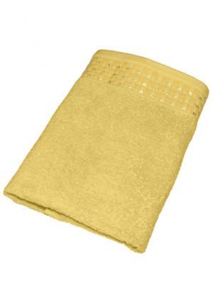Махровое полотенце Tete-a-Tete. Цвет: желтый (желтый), розовый (розовый), синий (голубой), сиреневый (сиреневый)