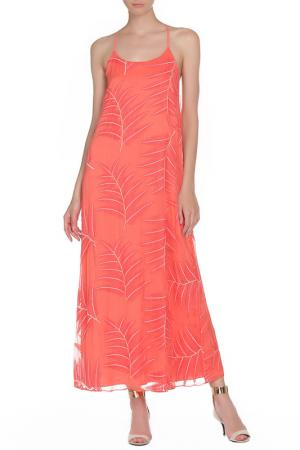 Платье ALICE+OLIVIA. Цвет: коралловый