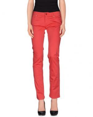 Повседневные брюки ROŸ ROGER'S. Цвет: коралловый