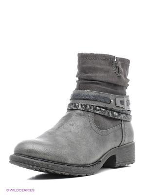 Ботинки Jana. Цвет: темно-серый