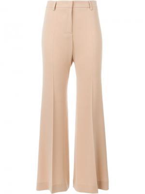 Широкие брюки со складками Alberto Biani. Цвет: телесный