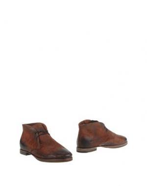 Полусапоги и высокие ботинки PREVENTI. Цвет: коричневый