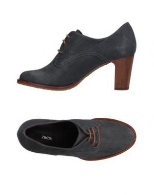 Обувь на шнурках ZINDA. Цвет: стальной серый