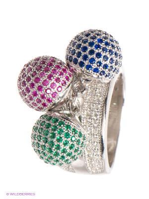 Кольцо BALEX. Цвет: серебристый, красный, синий, зеленый
