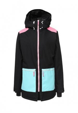 Куртка горнолыжная CLWR. Цвет: черный