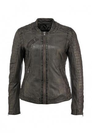 Куртка кожаная Oakwood. Цвет: серый