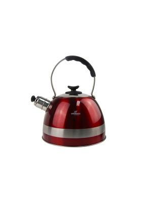 Чайник Bohmann со свистком 3 литра. Цвет: светло-коричневый