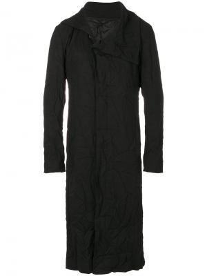 Пальто с высокой горловиной D.Gnak. Цвет: чёрный