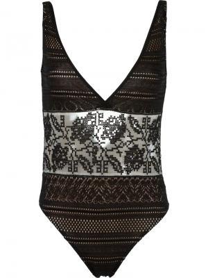 Crochet swimsuit Cecilia Prado. Цвет: чёрный