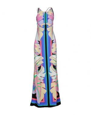 Длинное платье ROBERTO CAVALLI. Цвет: синий