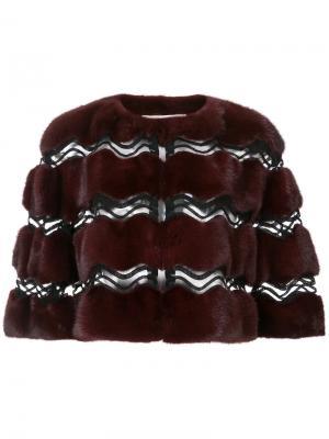 Fur bolero jacket Carolina Herrera. Цвет: красный