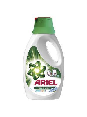 Гель для стирки Горный родник белого и цветного, 1.3л Ariel. Цвет: белый, зеленый