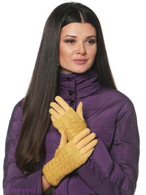 Перчатки женские Sabellino. Цвет: желтый